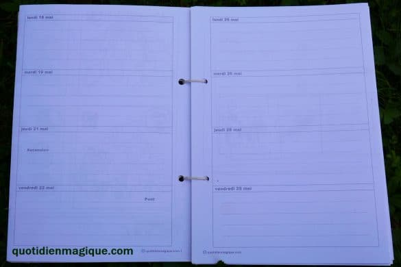 agenda 4 jours