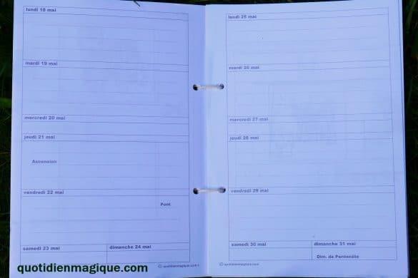 agenda 7 jours liste