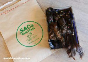 sac à cheveux don cheveux