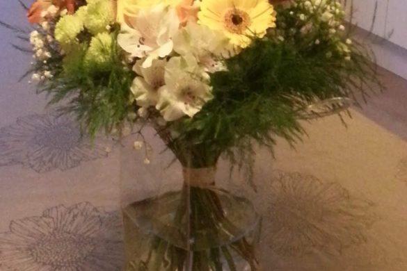 fleurs vase à emballer