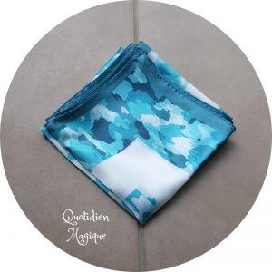 Tissu furoshiki bleu
