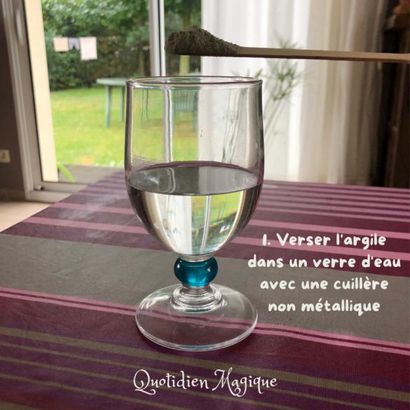 Utiliser l'argile à boire